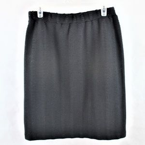 St John Collection Textured Knit Skirt
